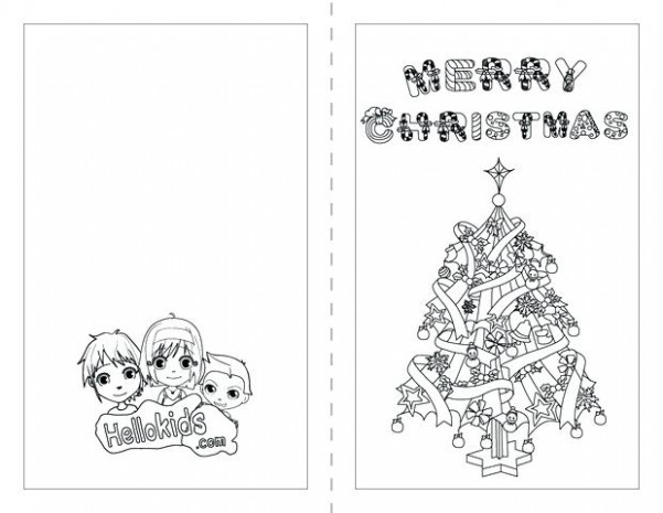 Christmas Card Coloring Pages Cards Sheets Thank You Fresh Free ..