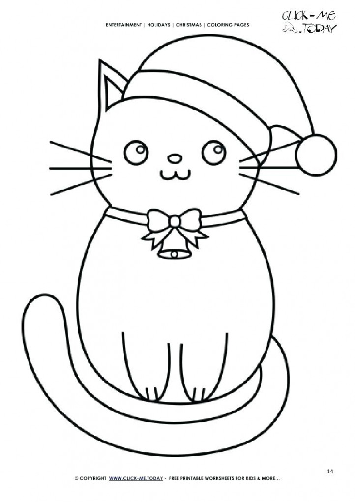christmas cat coloring pages – johnsimpkins