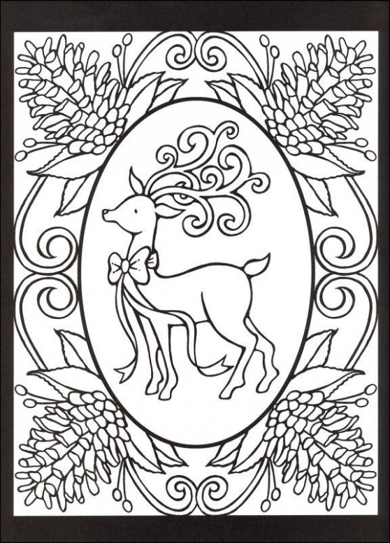 Christmas Cheer! Stained Glass Coloring Book | Things that caught my ..