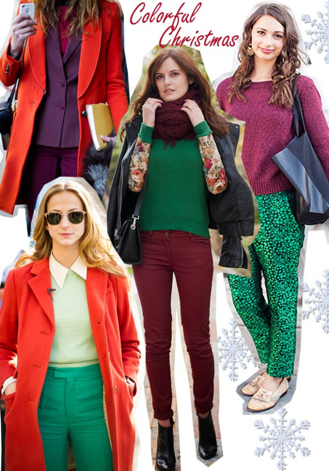 Christmas Cheers : Red and Green Outfit Ideas | – Christmas Color Outfits