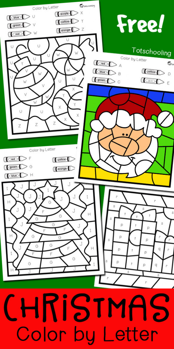 Christmas Color by Letter | Totschooling – Toddler, Preschool ..