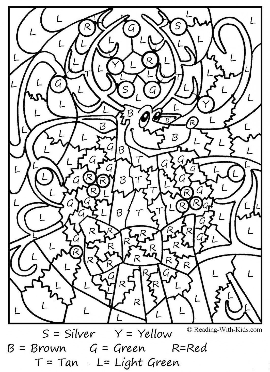 Christmas Color By Number Coloring Pages Printable | coloring pages ..