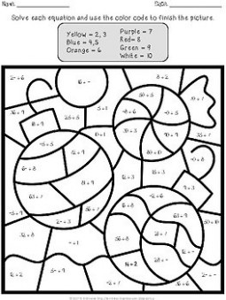 Christmas Color by Number – Multiplication and Division by TchrBrowne – Christmas Coloring By Number