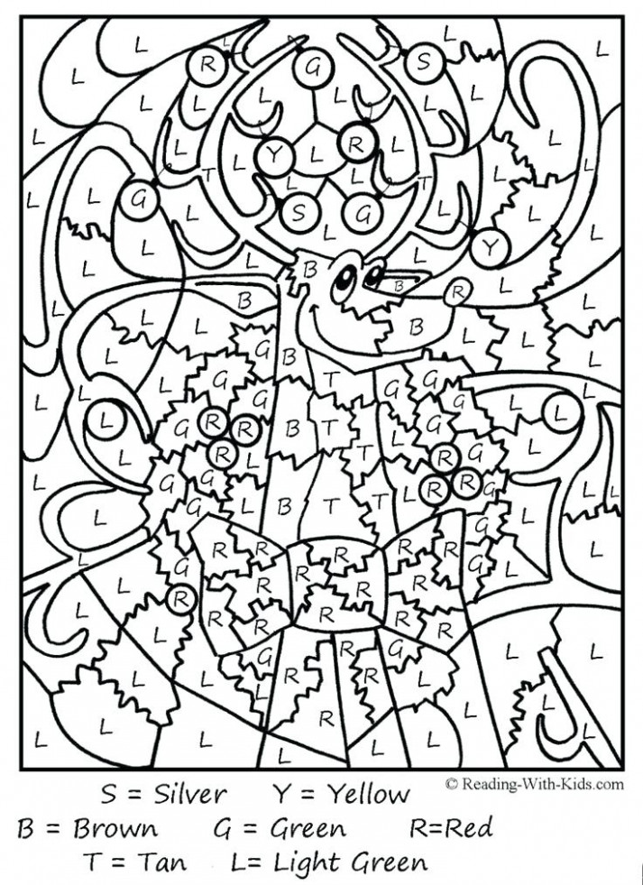 Christmas Color By Number Pages Coloring Pages Free Color By Number ...