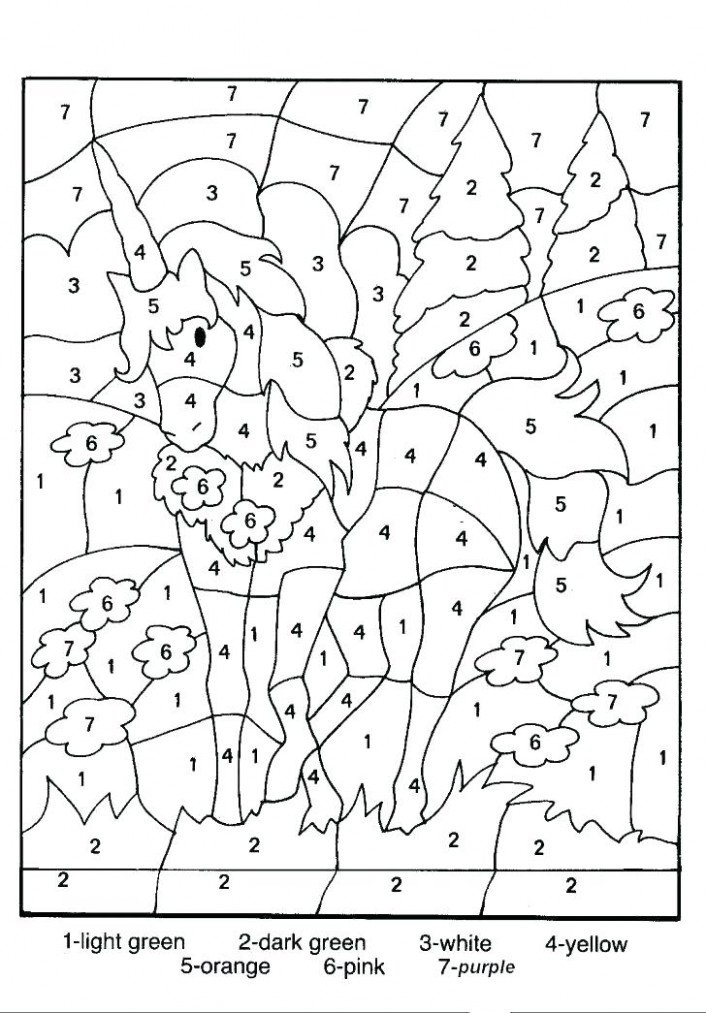 christmas color by number worksheets – Christmas Coloring Pages Multiplication