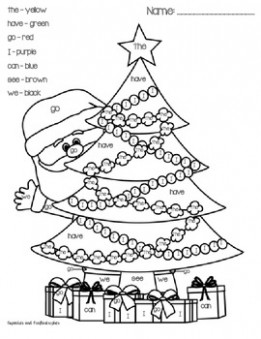 Christmas Color By Sight Word FREEBIE!!! by Cupcakes and Craftastrophes – Christmas Coloring Words
