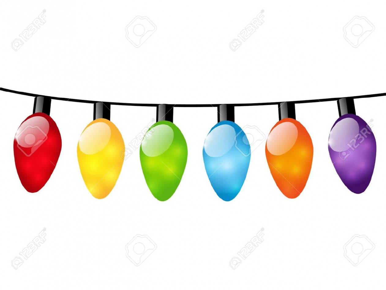 Christmas Color Light Bulbs On White Royalty Free Cliparts, Vectors ..