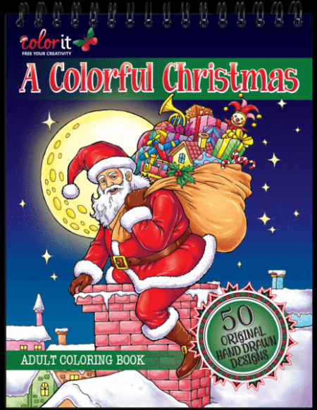 Christmas Coloring Book: Hardback Covers & Artist Paper by ColorIt – Christmas Coloring Book