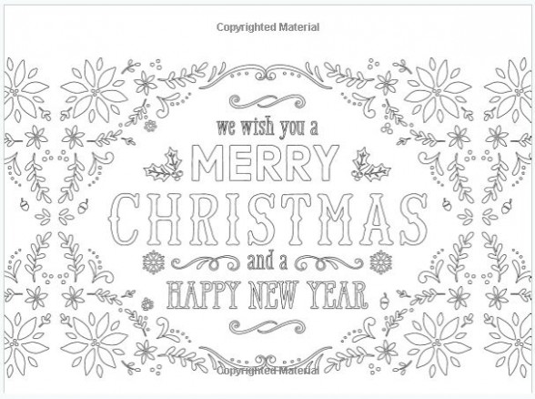 Christmas Coloring Cards  – Christmas Coloring In Cards