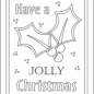Christmas coloring cards for kids - printable free coloring cards ...