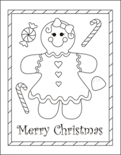 Christmas coloring cards for kids – printable free coloring cards ..