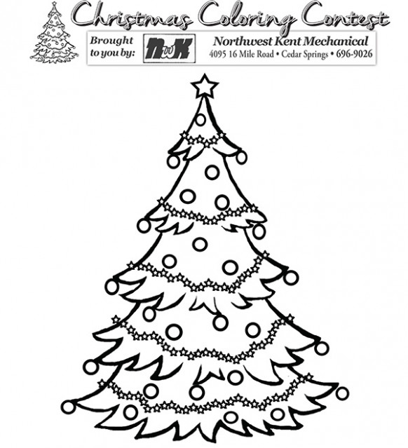 Christmas coloring contest | Cedar Springs Post Newspaper – Christmas Coloring Contest