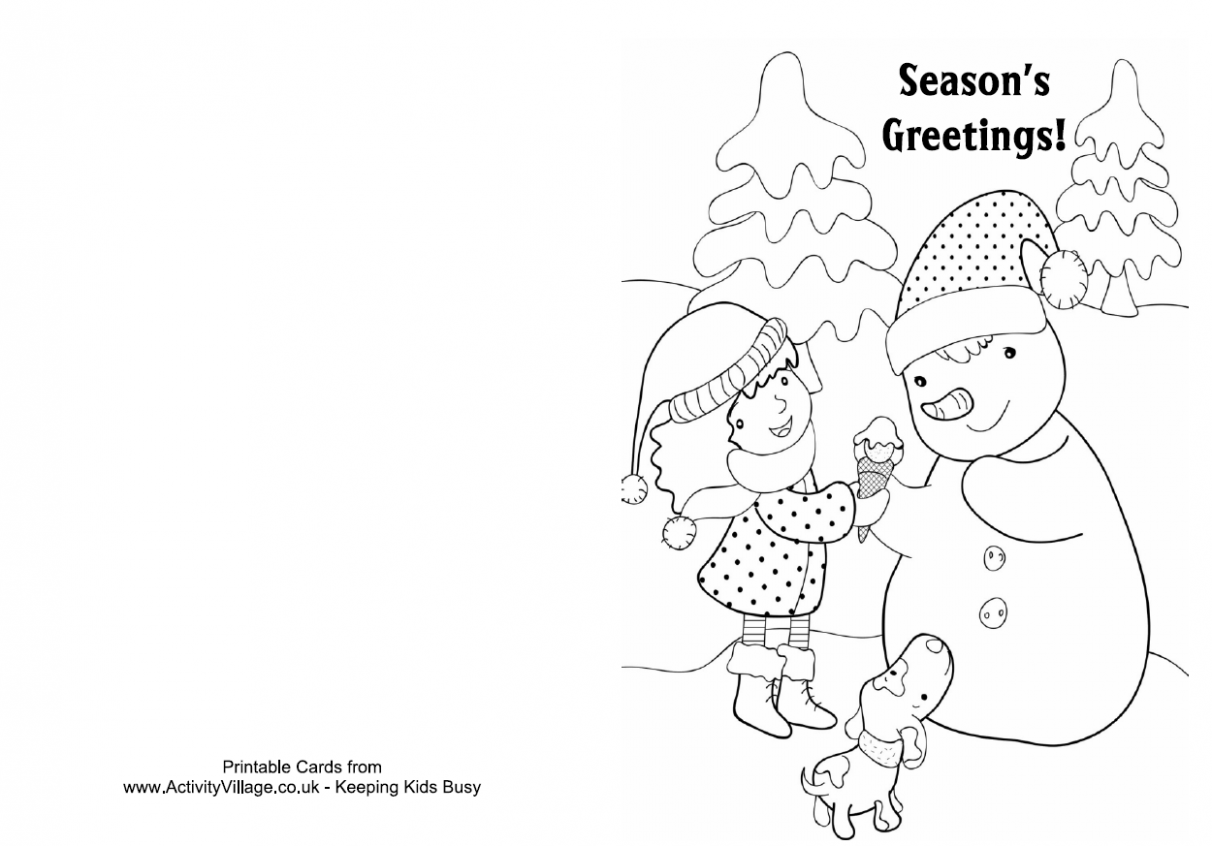 Christmas coloring flash cards - a-k-b.info