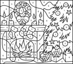 Christmas Coloring Online – Christmas Coloring By Numbers Printable
