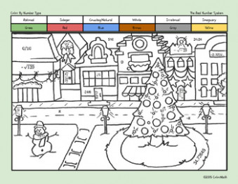 Christmas Coloring Page for Middle School Math Students! The Real ..