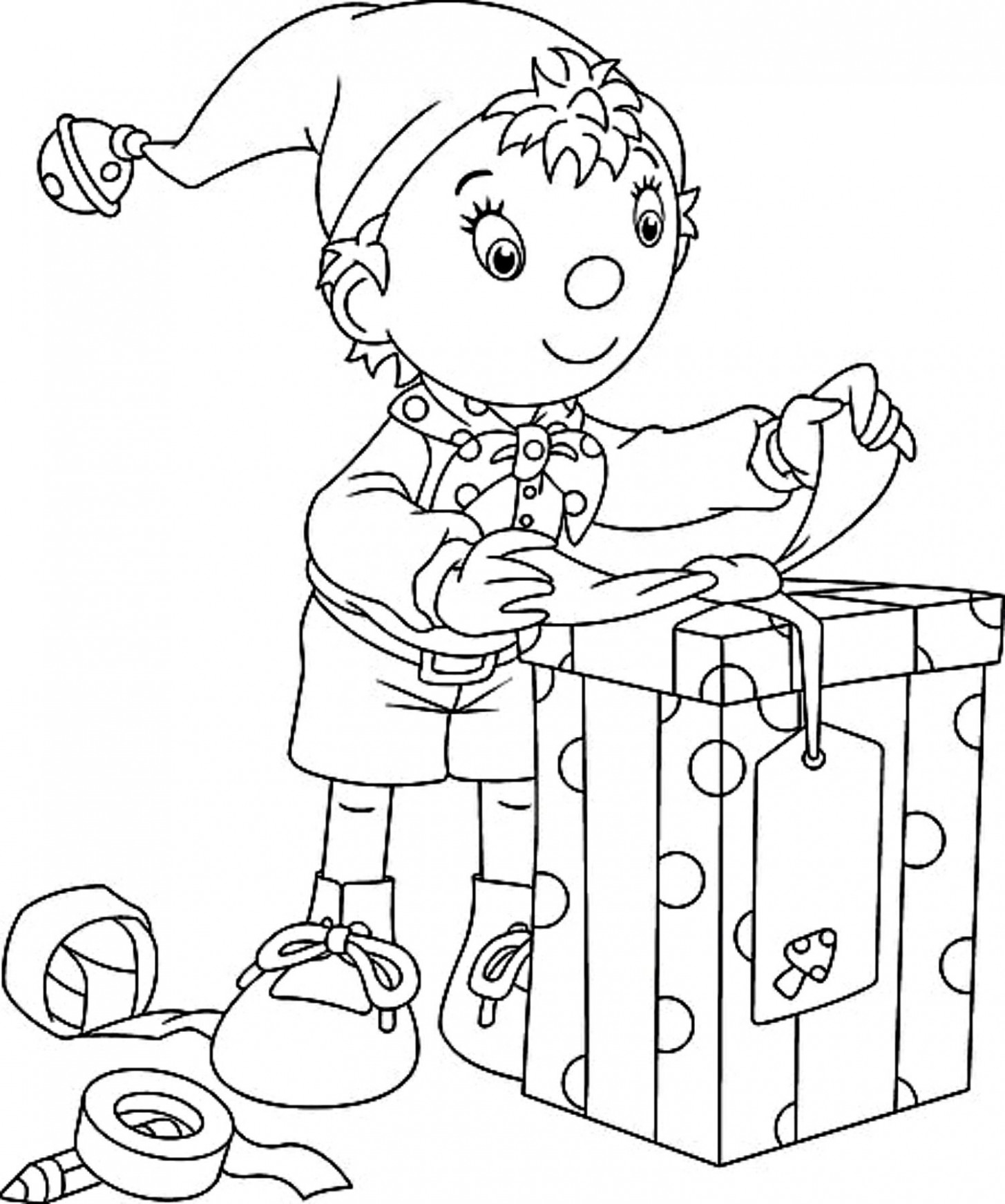 CHRISTMAS COLORING PAGE: Santa Song and Free Printable Christmas Elf ...