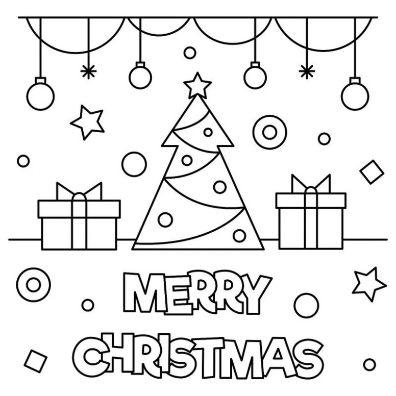 Christmas Coloring Printouts Will Be   Chrismast and New Year