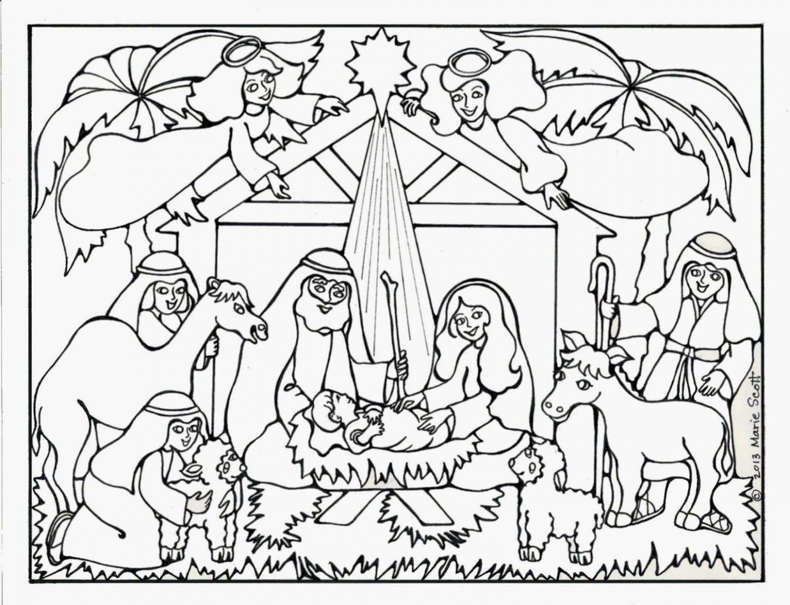 Christmas Coloring Pages About Jesus New Religious Christmas ..