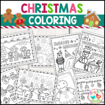 Christmas Coloring Pages by Pre-K Tweets | Teachers Pay Teachers – Christmas Coloring Pages For Teachers