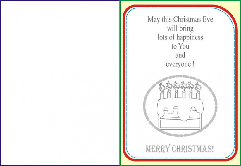 Christmas Coloring Pages: Cake and Candles – Christmas Coloring Greeting Cards