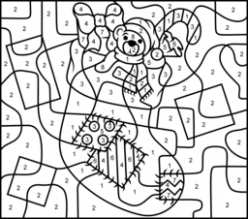 Christmas Coloring Pages – Christmas Coloring By Numbers Printable
