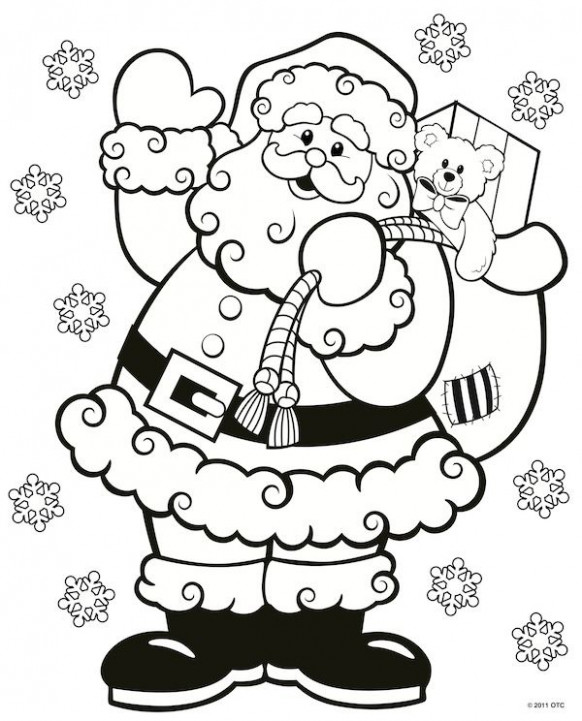 Christmas Coloring Pages | Christmas Coloring Pages | Santa coloring ...