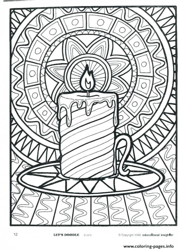 Christmas Coloring Pages Difficult For Adults To Print Also ..