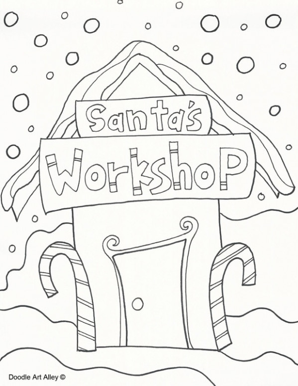 Christmas Coloring Pages - Doodle Art Alley