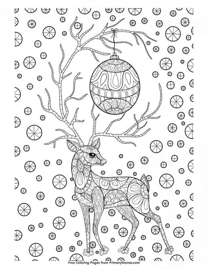 Christmas Coloring Pages eBook: Zentangle Christmas Reindeer ..
