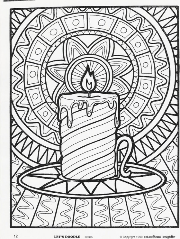 Christmas Coloring Pages for Adults 12- Dr