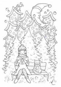 Christmas – Coloring Pages for Adults – Christmas Reading Coloring Sheets