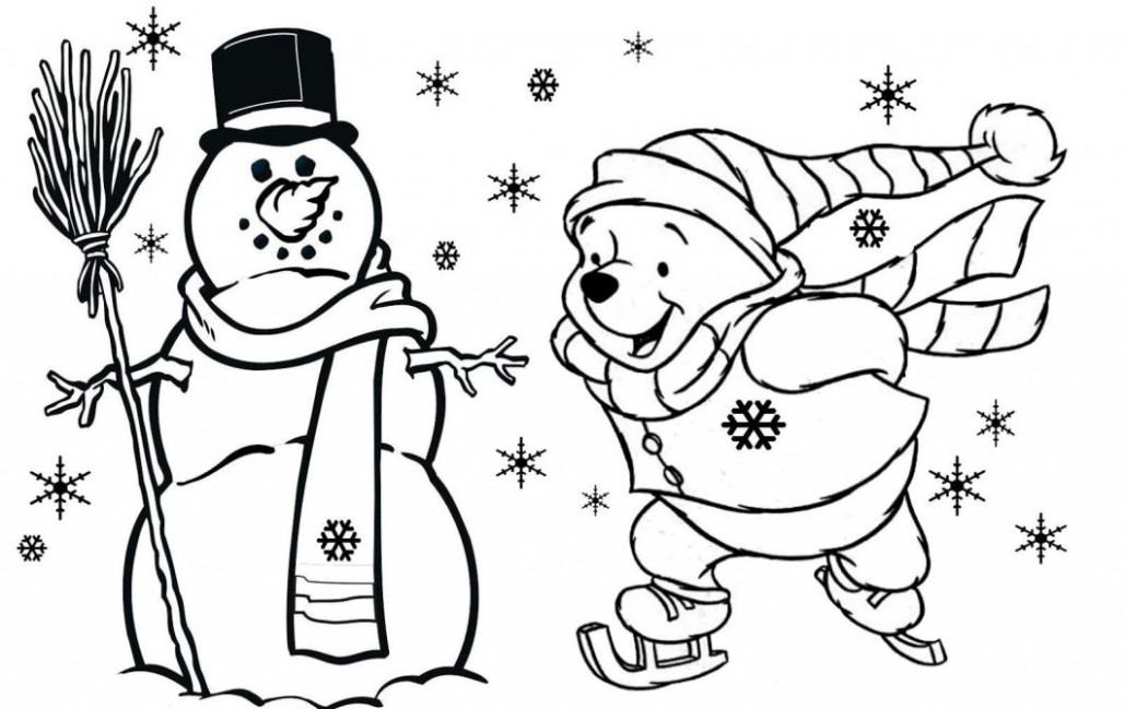 Christmas Coloring Pages For Kids – With Children's Free Also ...