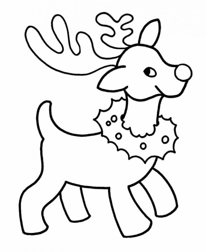 Christmas coloring pages for preschoolers – Coloring pages for kids – Christmas Coloring For Preschool