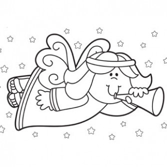 Christmas Coloring Pages, Free Christmas Coloring Pages for Kids – Christmas Angel Coloring Pages To Print