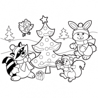 Christmas Coloring Pages, Free Christmas Coloring Pages for Kids - Christmas Coloring Pages Large