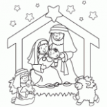 Christmas Coloring Pages, Free Christmas Coloring Pages for Kids – Christmas Manger Coloring Pages