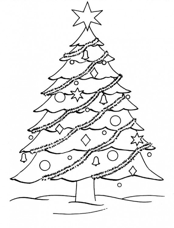 Christmas Coloring Pages | Free Coloring Pages: Christmas Tree ..