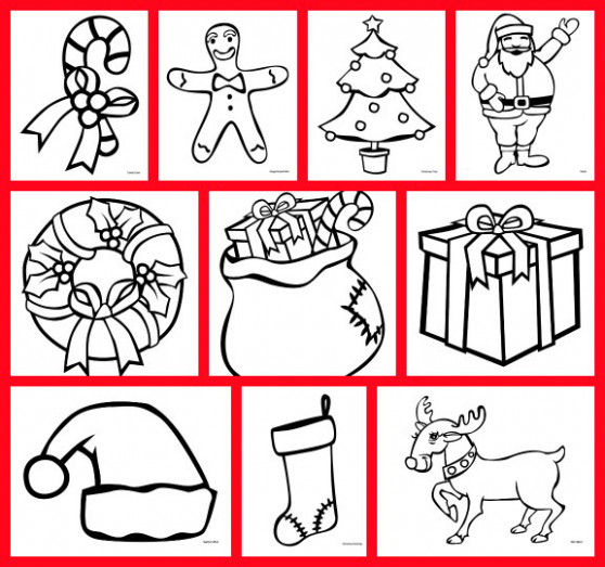 Christmas coloring pages free printable - Gift of Curiosity