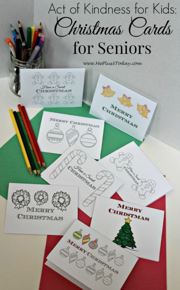 Christmas Coloring Pages – Free Printable Greeting Cards – Me Plus 20 ..