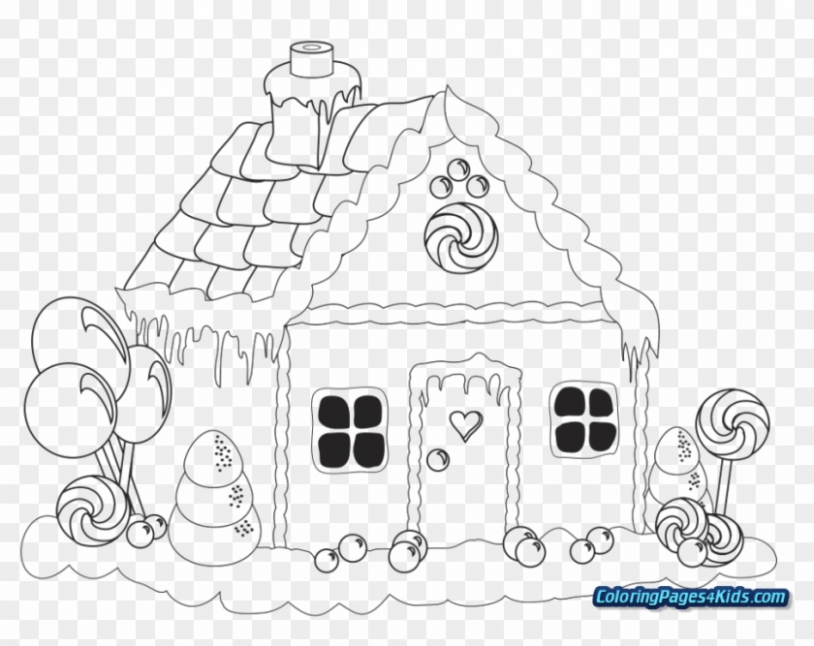 Christmas Coloring Pages Gingerbread House – Christmas Coloring ..
