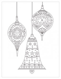 Christmas Coloring Pages | Hallmark Ideas  – Christmas Coloring Ornaments