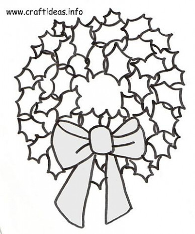 Christmas Coloring Pages-holly Leaves – CartoonRocks