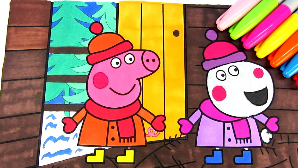 Christmas Coloring Pages – Learning Colors Videos with Colored ..