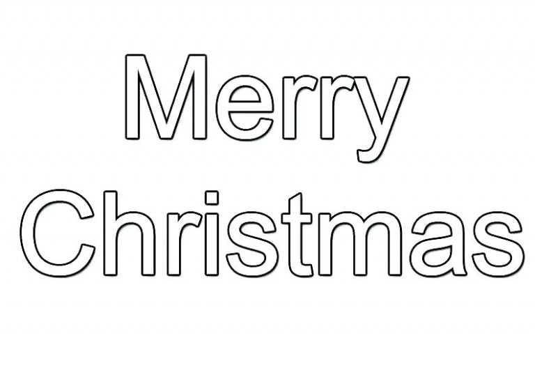 christmas coloring pages merry sign with free printable. merry ...