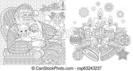 Christmas coloring pages with santa claus. Christmas colouring pages ...