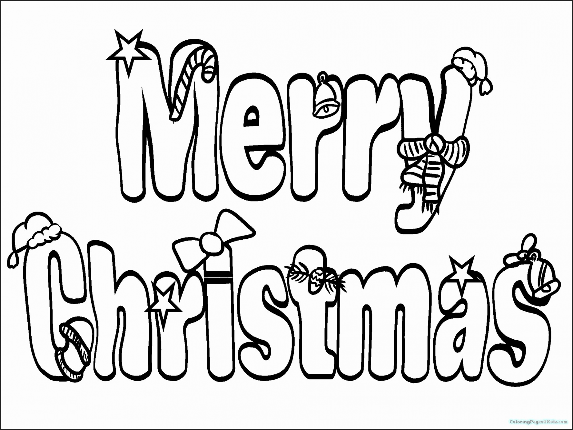 Christmas Coloring Pages With Words | Chrismast and New Year – Christmas Coloring Words