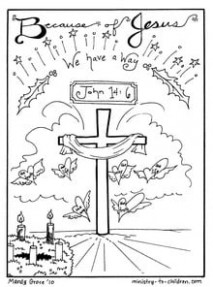 """Christmas Coloring Sheets """"Jesus is our Way """" Free Printable – Christmas Coloring Sheets Jesus"""