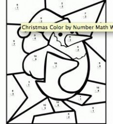 christmas coloring worksheets for 19st graders refrence first grade ...