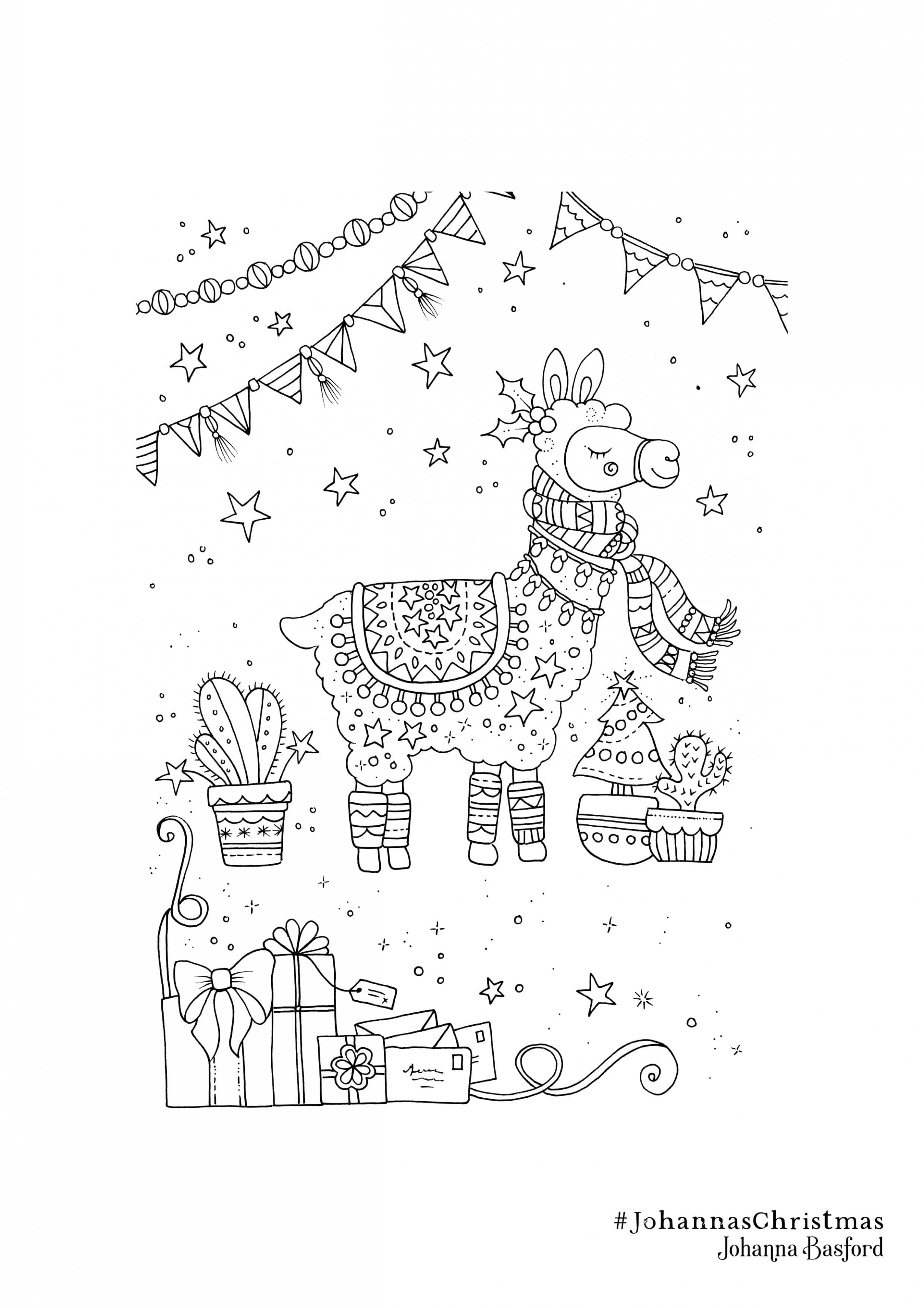 Christmas Colouring Downloads - Johanna Basford Johanna Basford