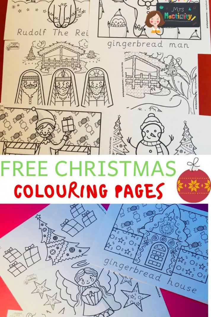 Christmas Colouring Pages With Word Trace | Christmas | Christmas ..